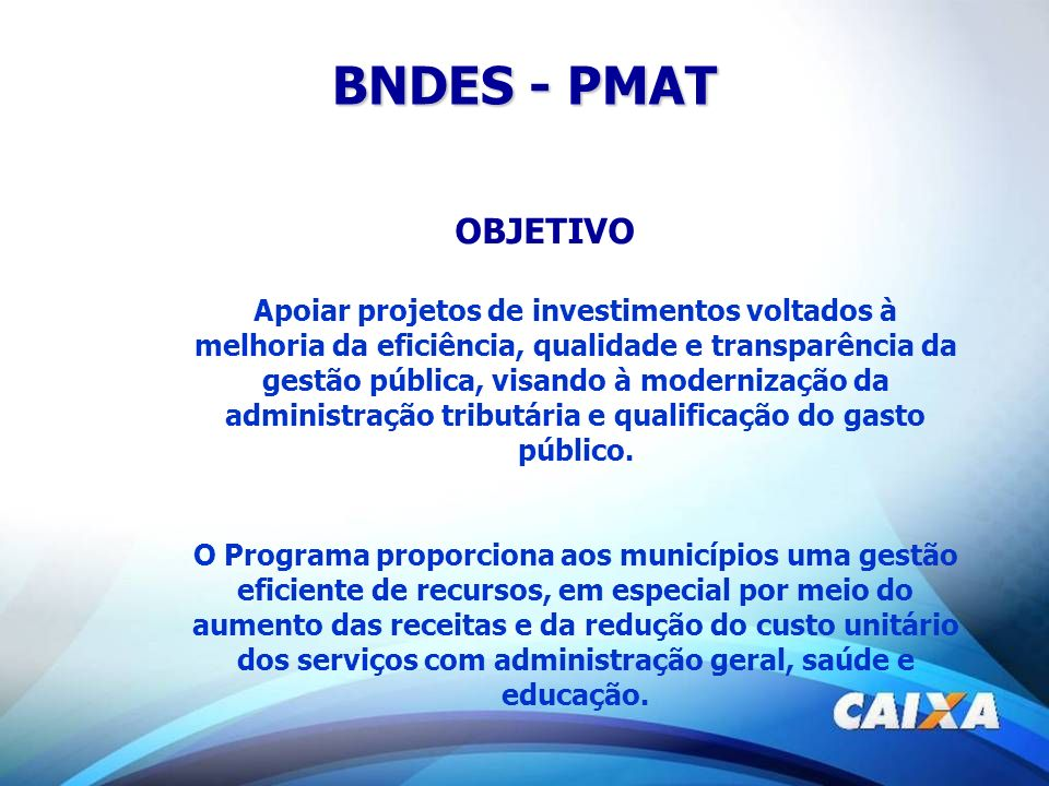 BNDES - PMAT OBJETIVO.