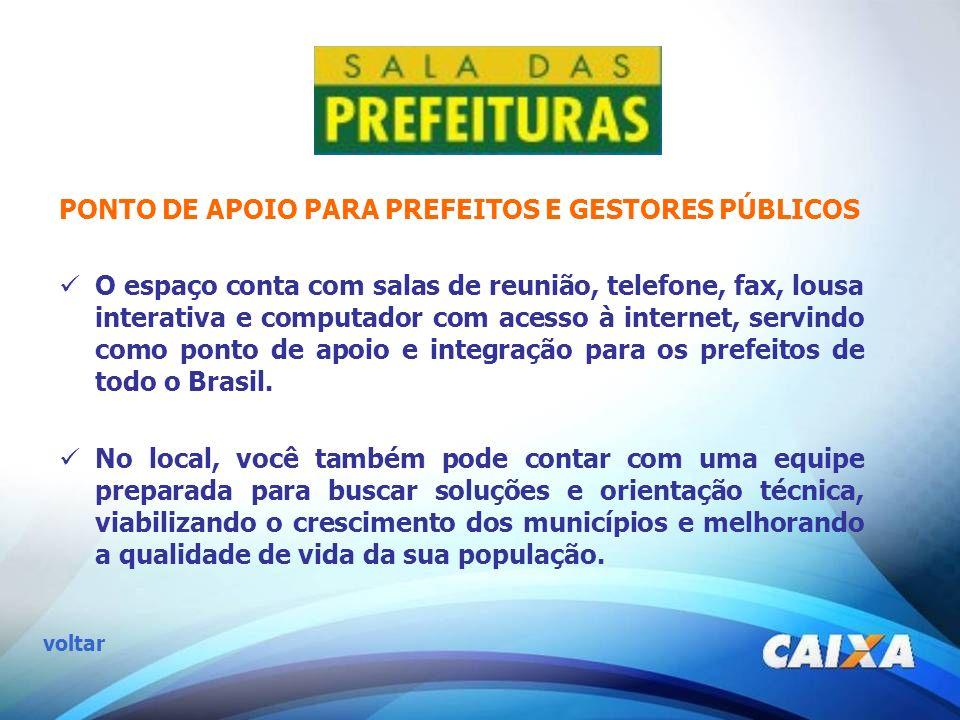 PONTO DE APOIO PARA PREFEITOS E GESTORES PÚBLICOS