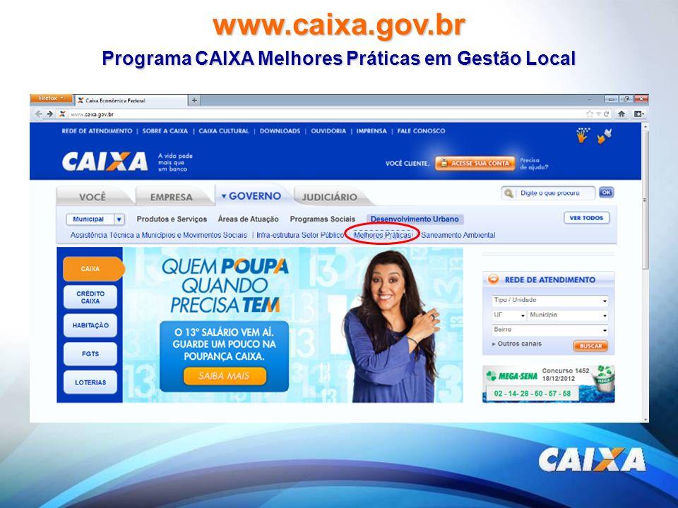 Programa CAIXA Melhores Práticas em Gestão Local
