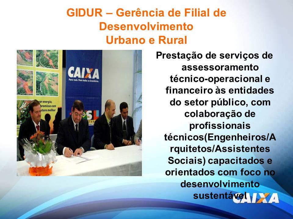 GIDUR – Gerência de Filial de Desenvolvimento Urbano e Rural