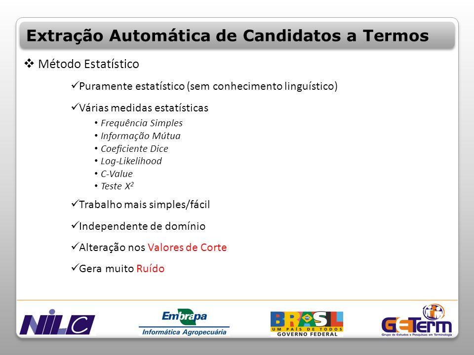 Extração Automática de Candidatos a Termos