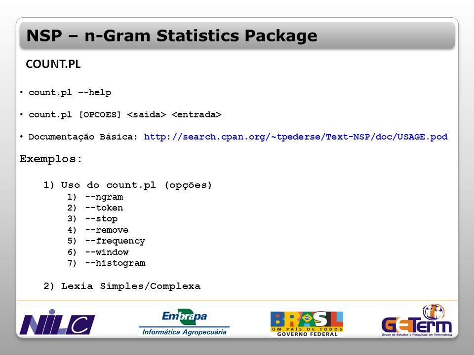 NSP – n-Gram Statistics Package