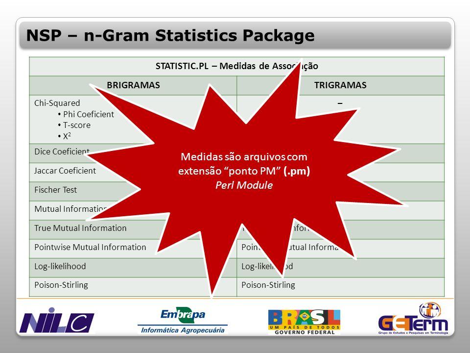 STATISTIC.PL – Medidas de Associação