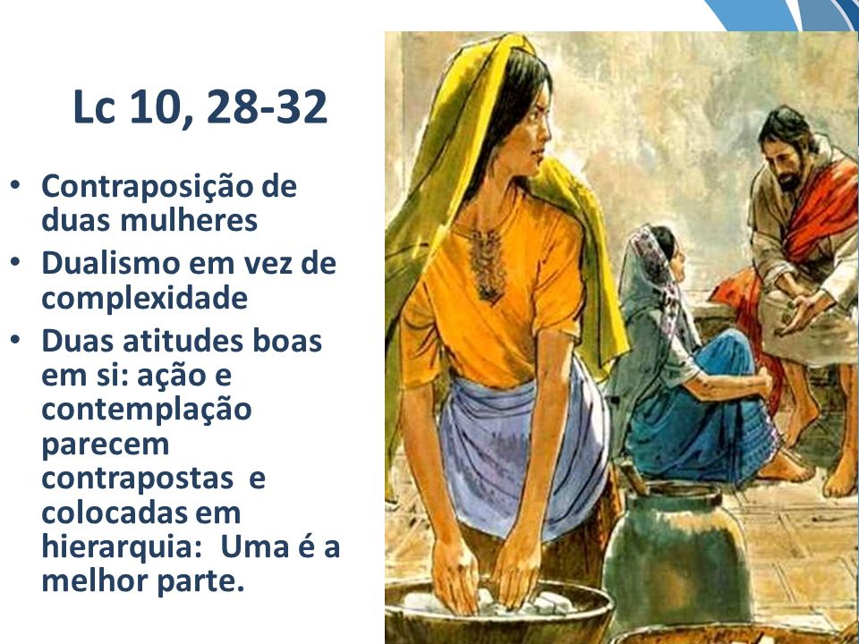 Lc 10, 28-32 Contraposição de duas mulheres