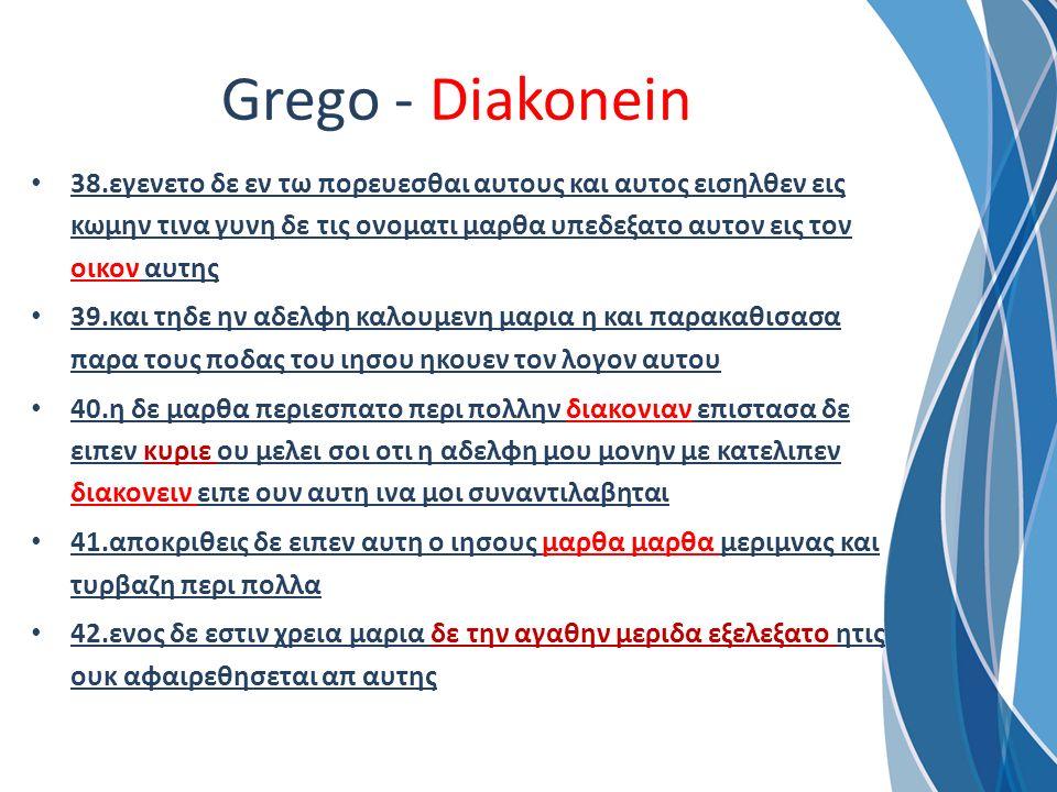 Grego - Diakonein