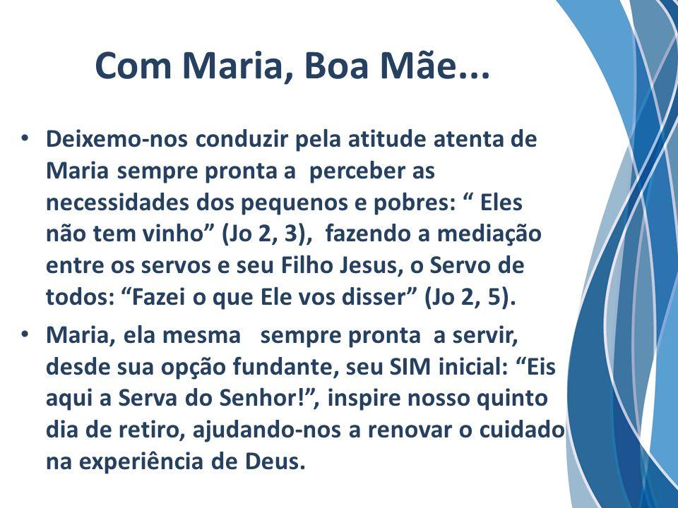 Com Maria, Boa Mãe...