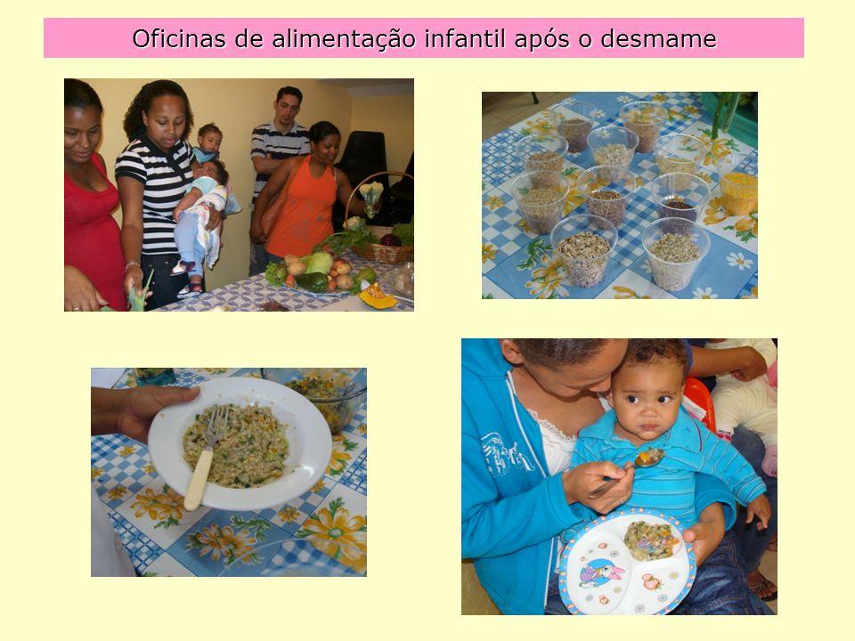 Oficinas de alimentação infantil após o desmame