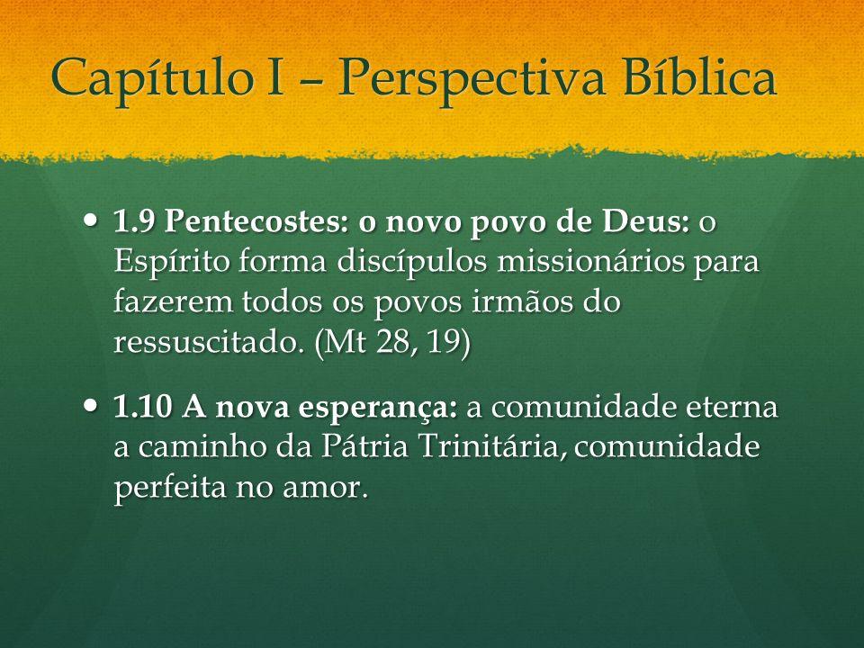 Capítulo I – Perspectiva Bíblica