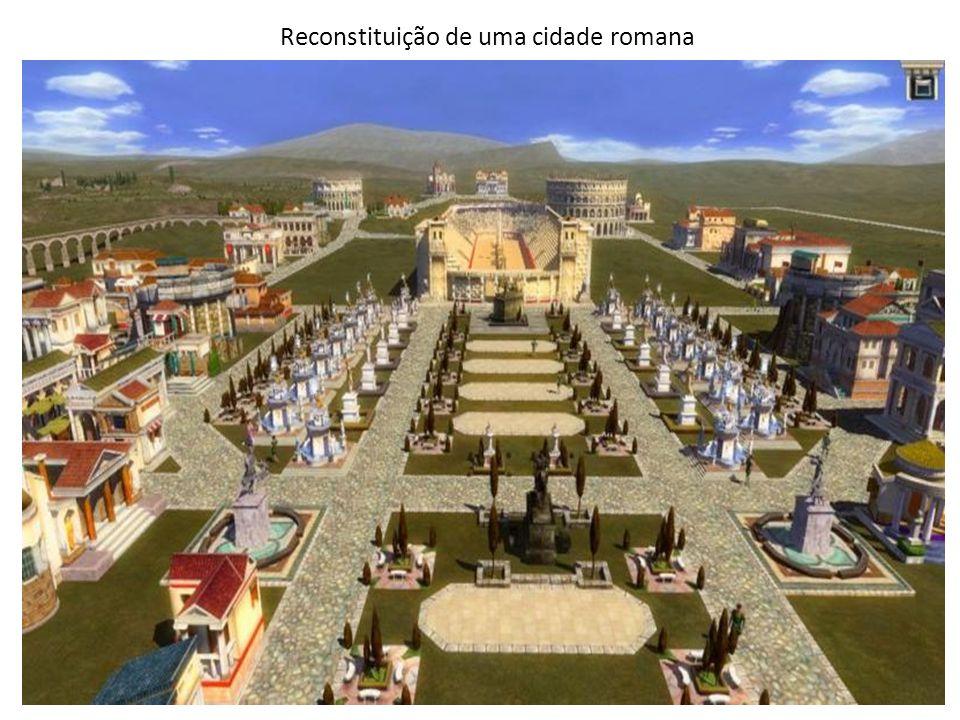 Reconstituição de uma cidade romana