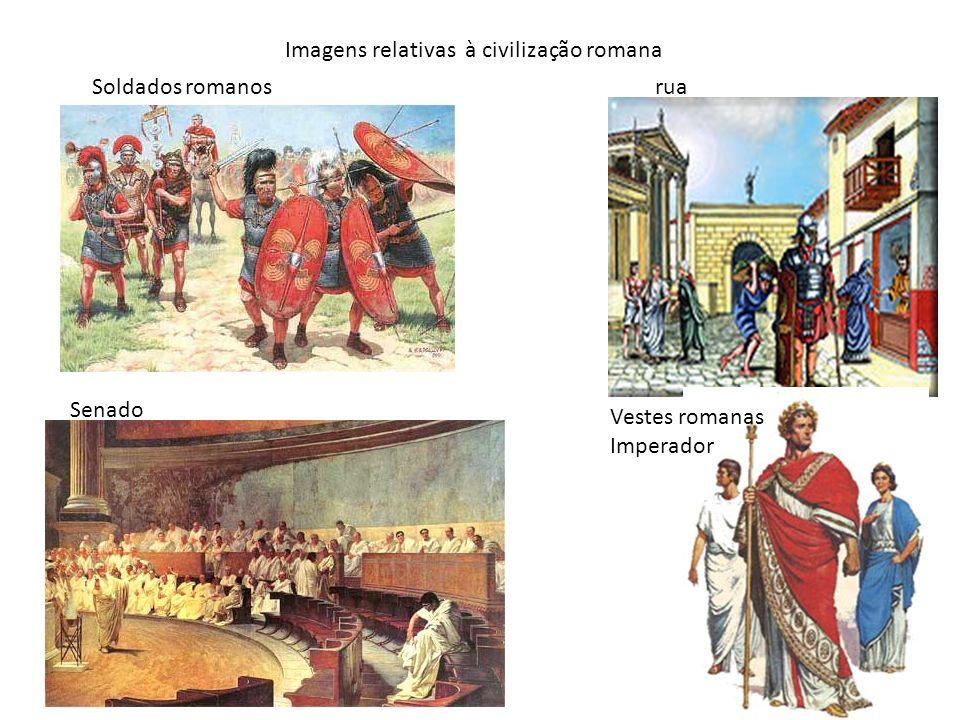 Imagens relativas à civilização romana