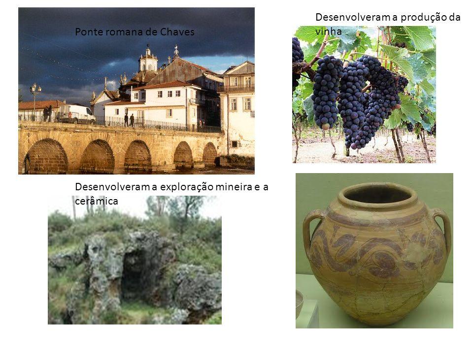 Desenvolveram a produção da vinha