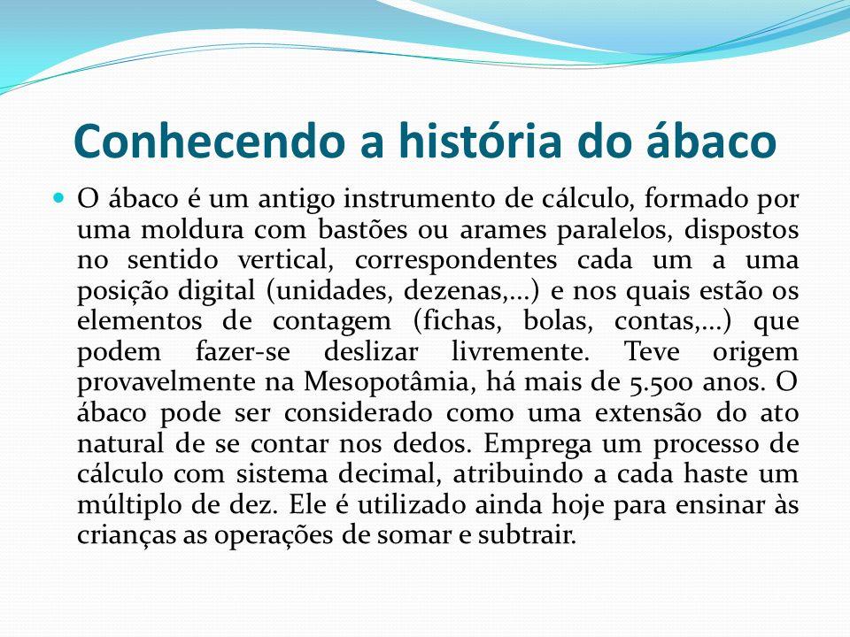 Conhecendo a história do ábaco