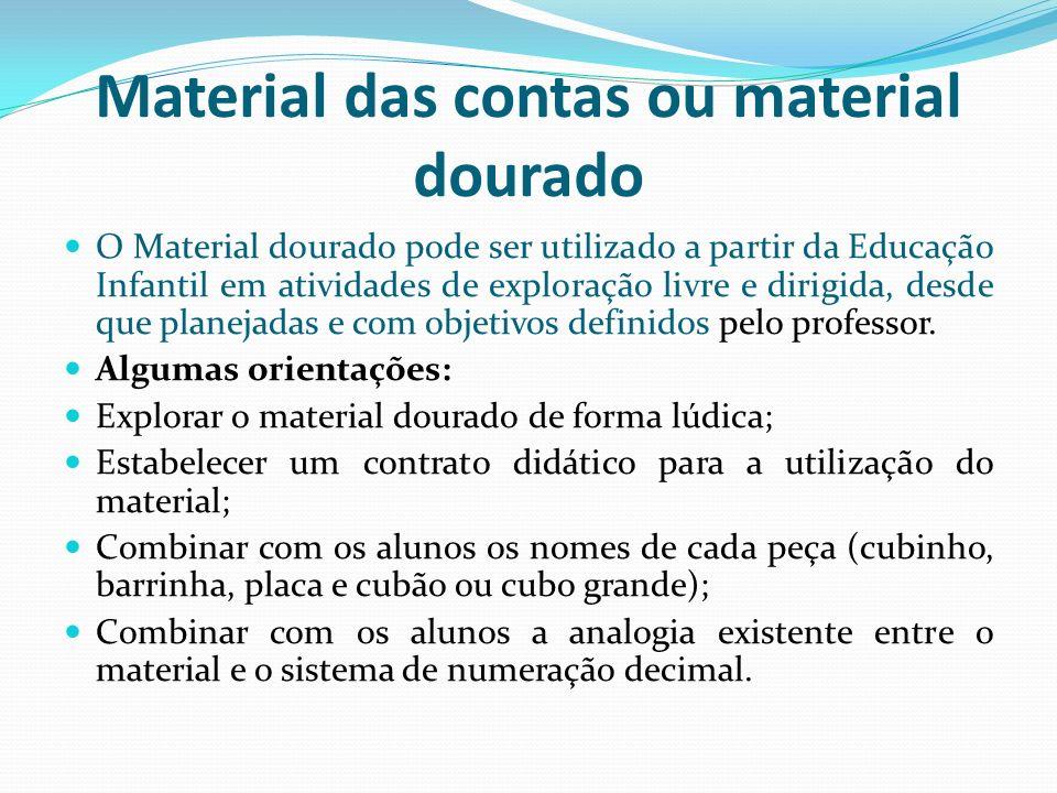 Material das contas ou material dourado