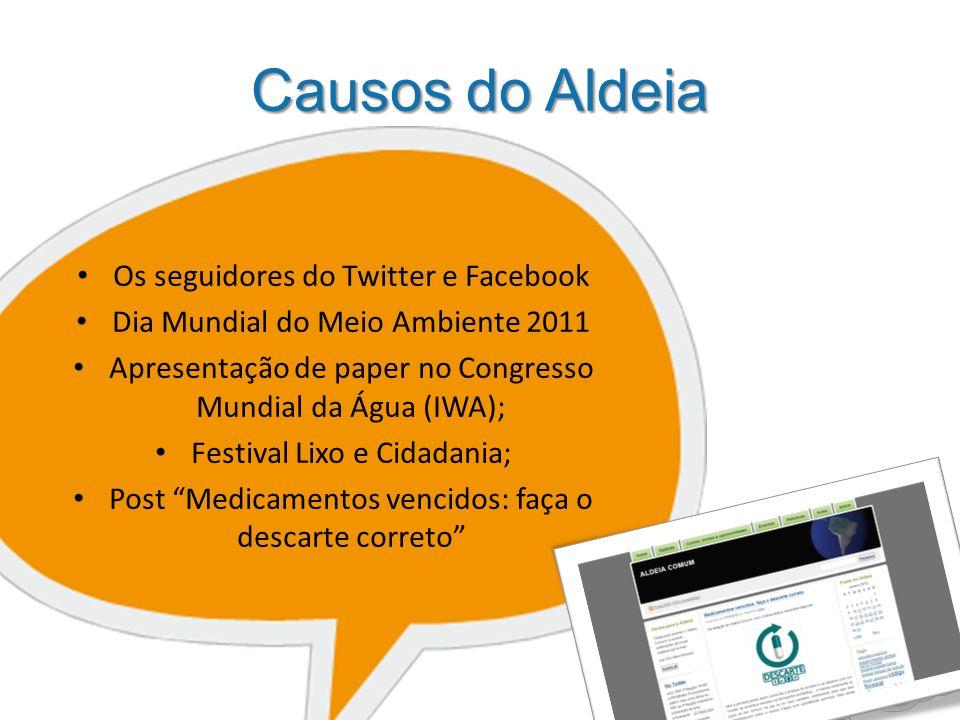 Causos do Aldeia Os seguidores do Twitter e Facebook