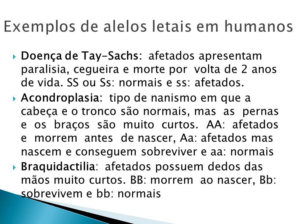 Exemplos de alelos letais em humanos