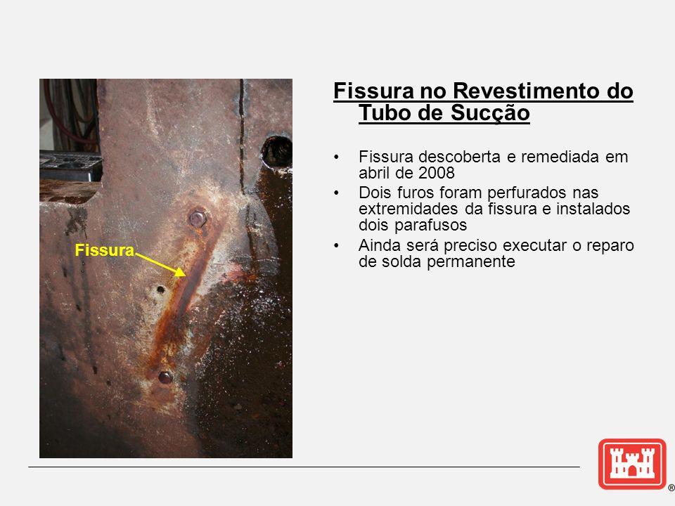 Fissura no Revestimento do Tubo de Sucção