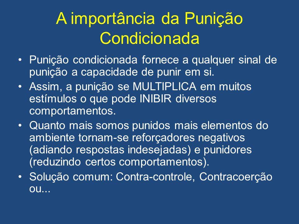 A importância da Punição Condicionada