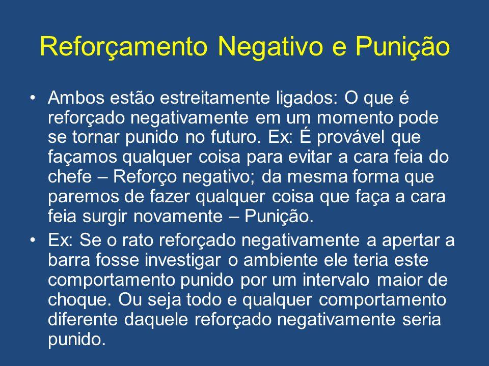 Reforçamento Negativo e Punição