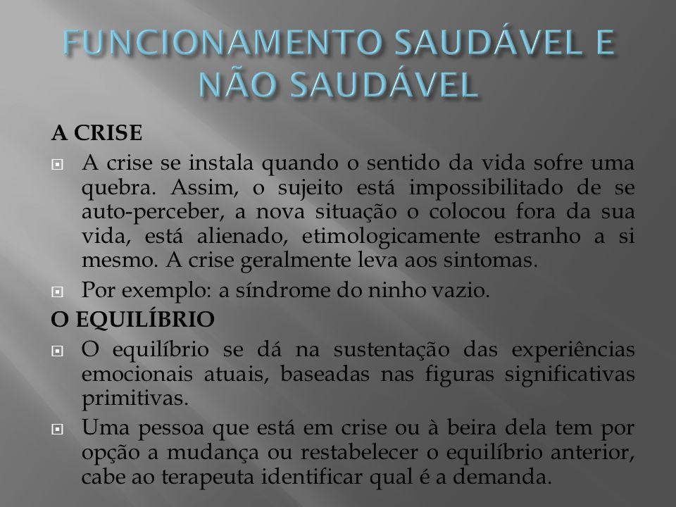 FUNCIONAMENTO SAUDÁVEL E NÃO SAUDÁVEL