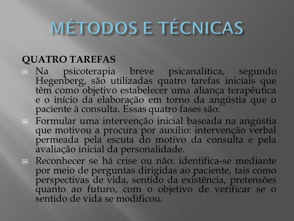 MÉTODOS E TÉCNICAS QUATRO TAREFAS