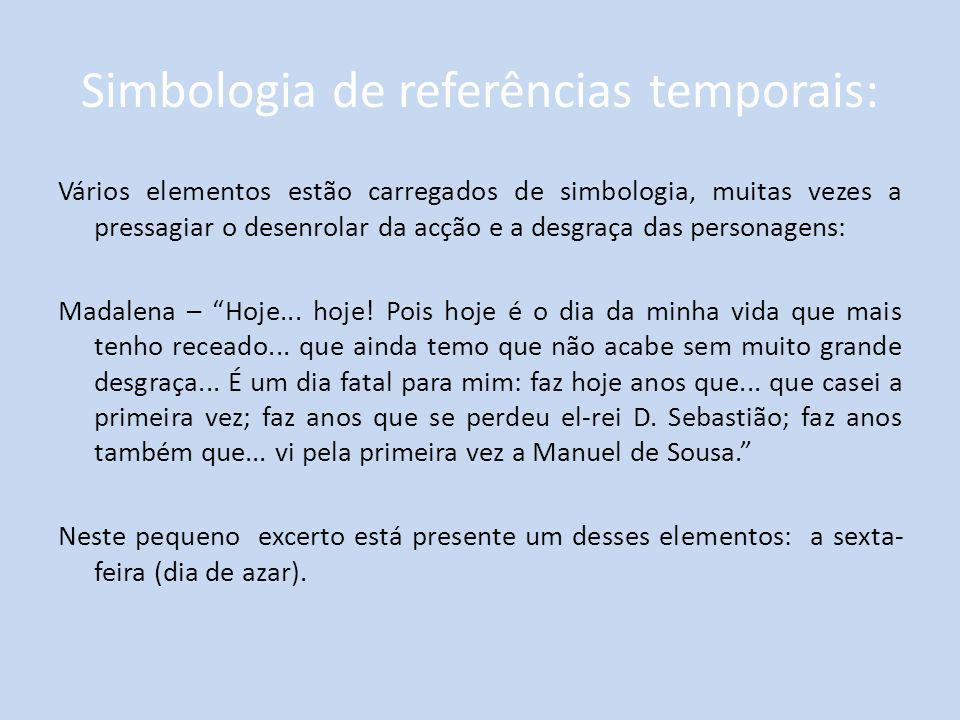Simbologia de referências temporais: