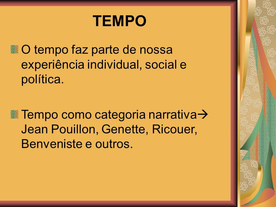 20/02/2008 TEMPO. O tempo faz parte de nossa experiência individual, social e política.