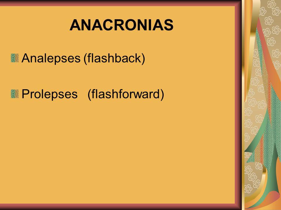 ANACRONIAS Analepses (flashback) Prolepses (flashforward) 20/02/2008