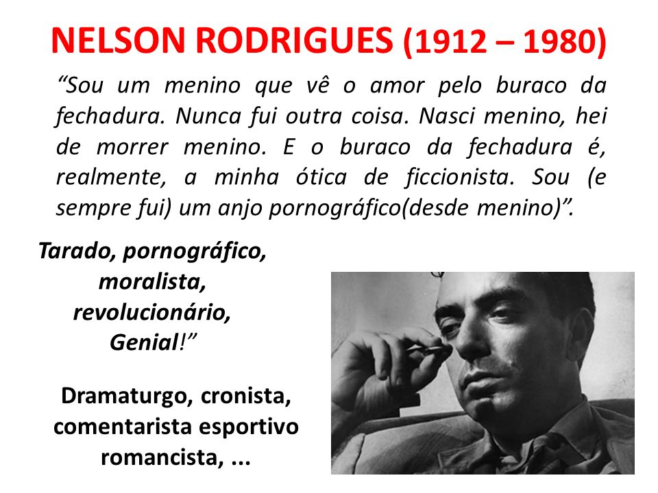 NELSON RODRIGUES (1912 – 1980)