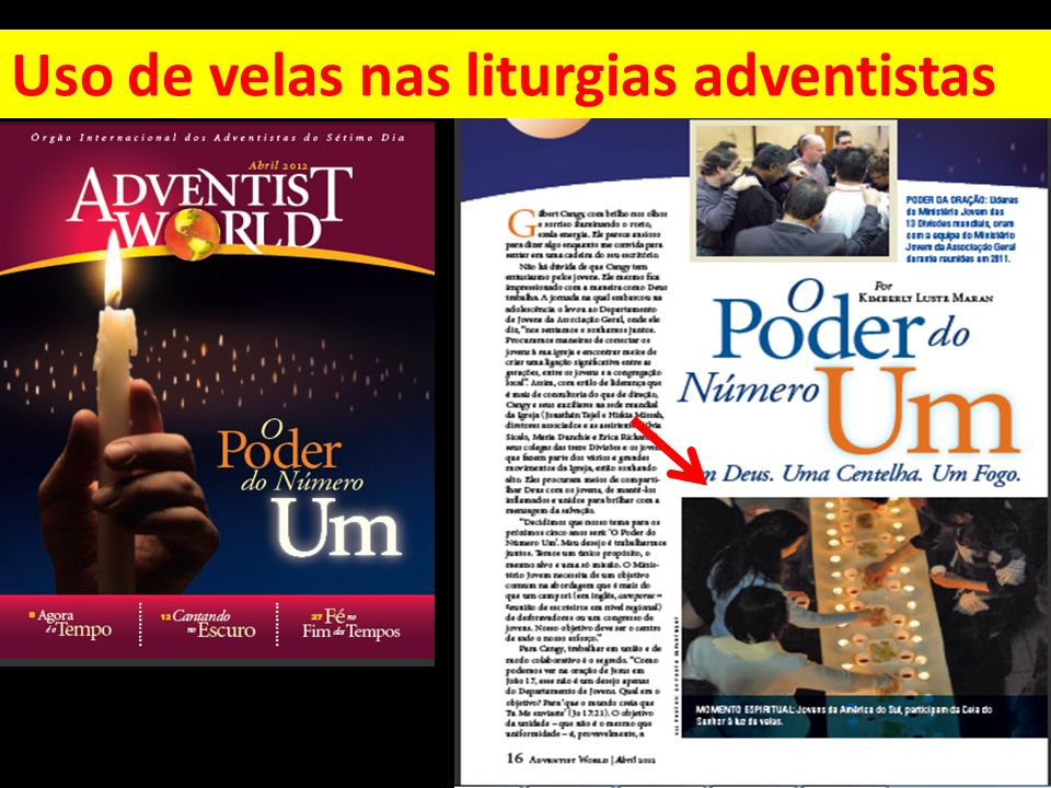 Uso de velas nas liturgias adventistas