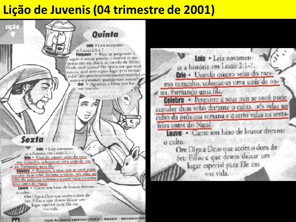 Lição de Juvenis (04 trimestre de 2001)
