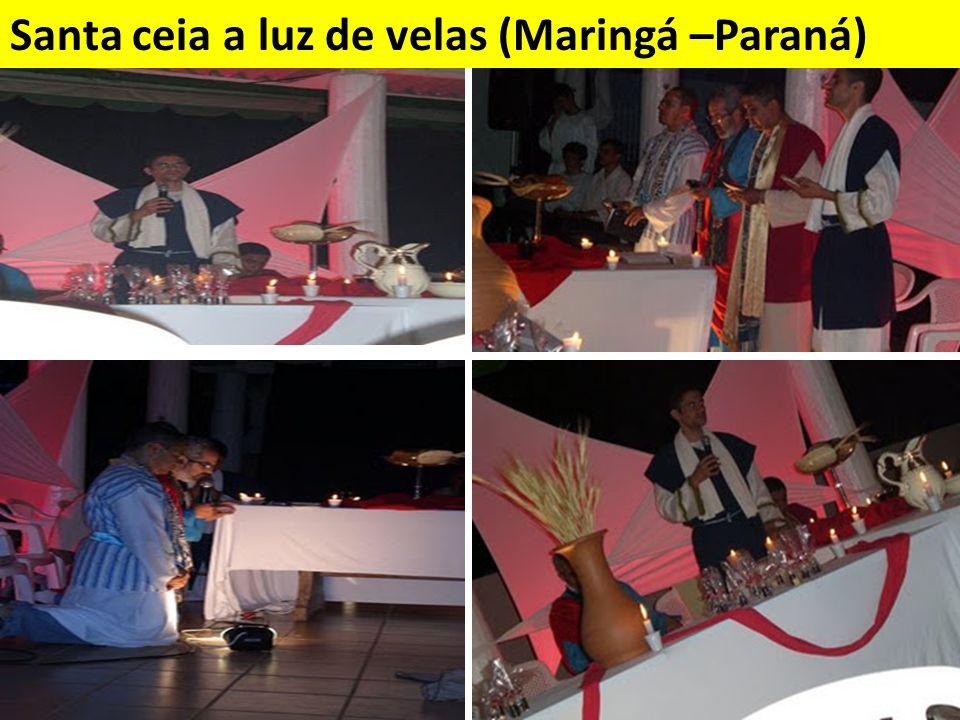 Santa ceia a luz de velas (Maringá –Paraná)