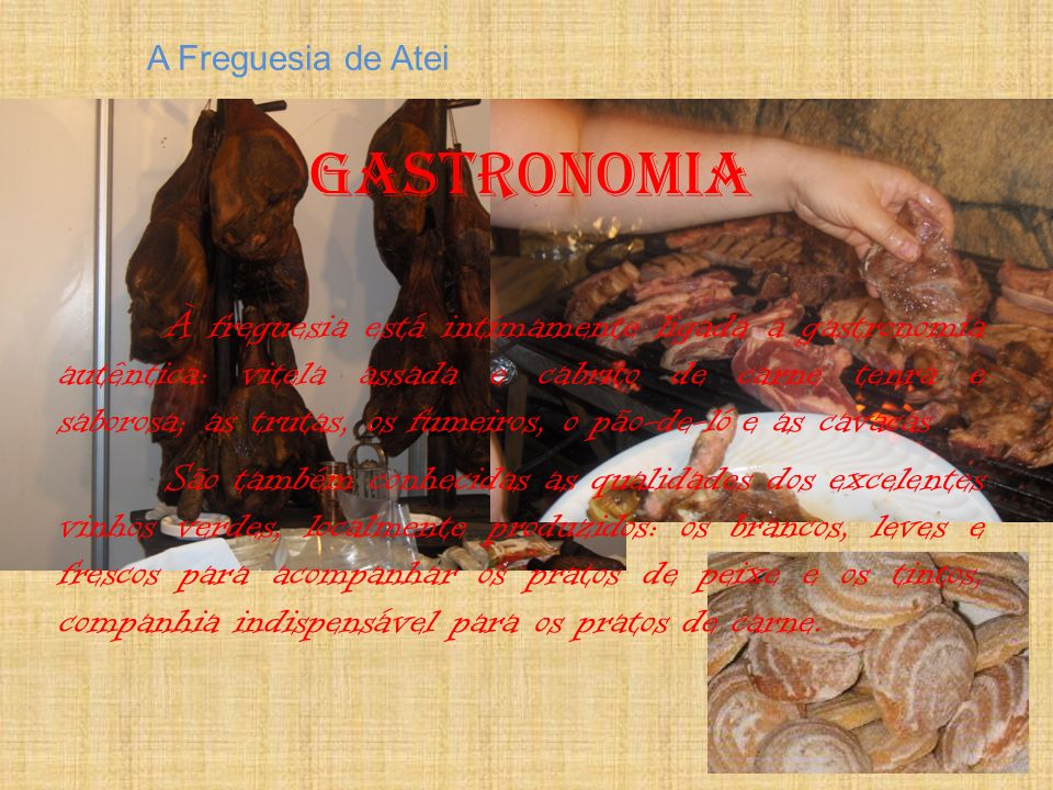 A Freguesia de Atei Gastronomia.