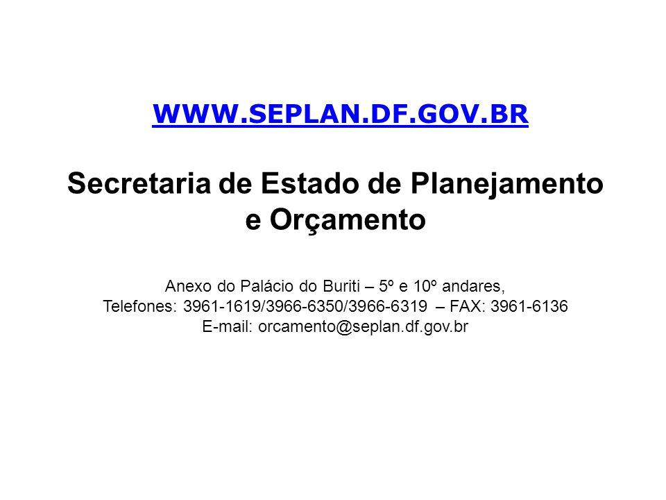 Secretaria de Estado de Planejamento e Orçamento