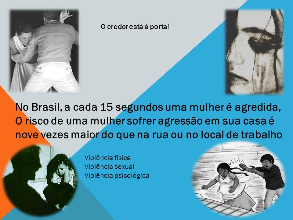 No Brasil, a cada 15 segundos uma mulher é agredida,