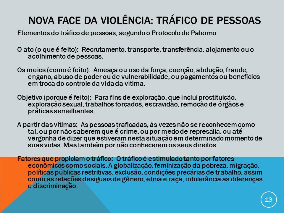 Nova face da violência: tráfico de pessoas