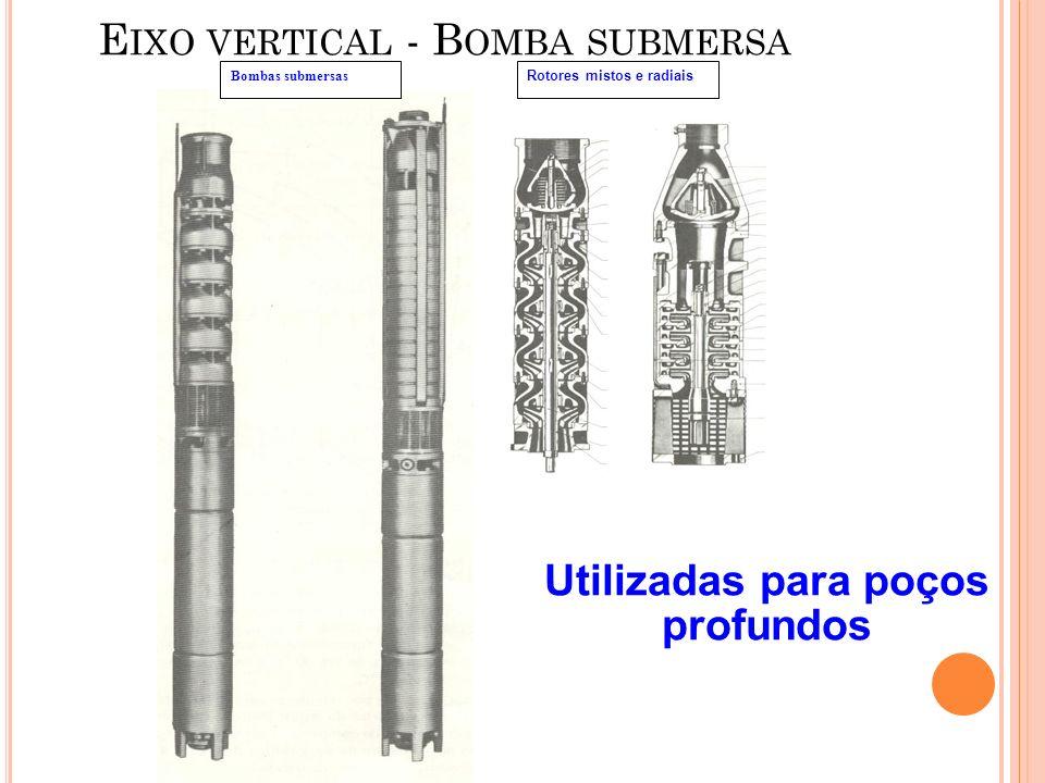 Eixo vertical - Bomba submersa