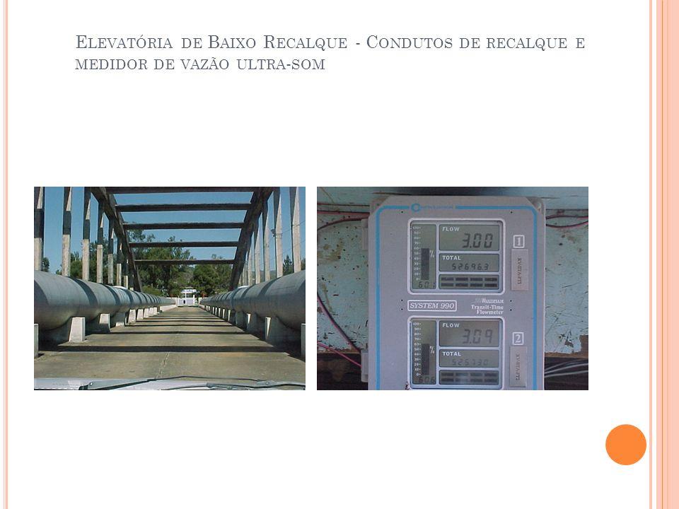 Elevatória de Baixo Recalque - Condutos de recalque e medidor de vazão ultra-som