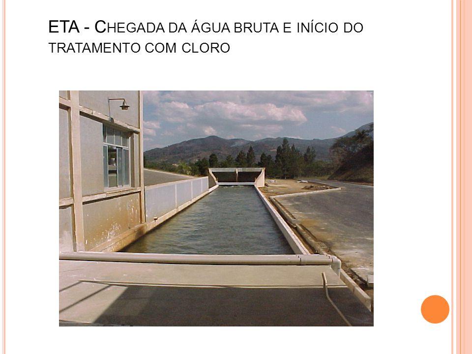 ETA - Chegada da água bruta e início do tratamento com cloro