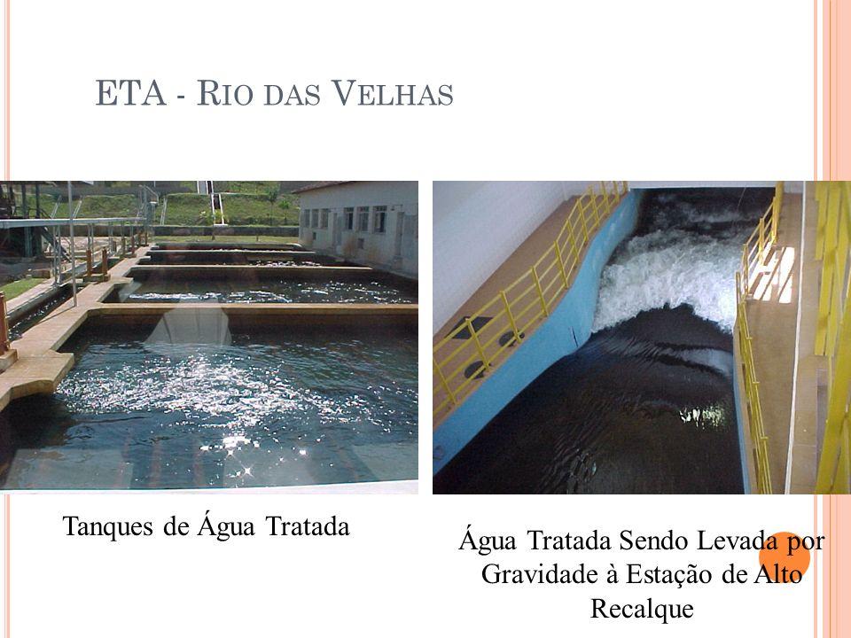 ETA - Rio das Velhas Tanques de Água Tratada
