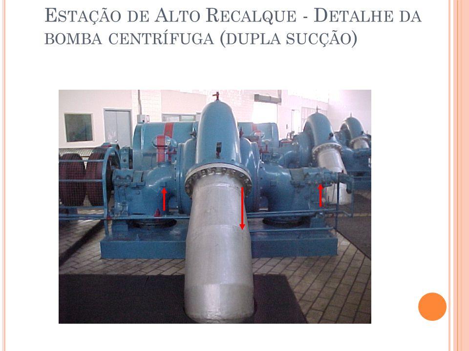 Estação de Alto Recalque - Detalhe da bomba centrífuga (dupla sucção)