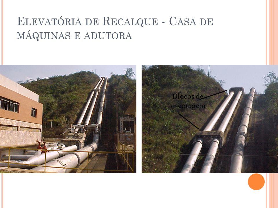 Elevatória de Recalque - Casa de máquinas e adutora