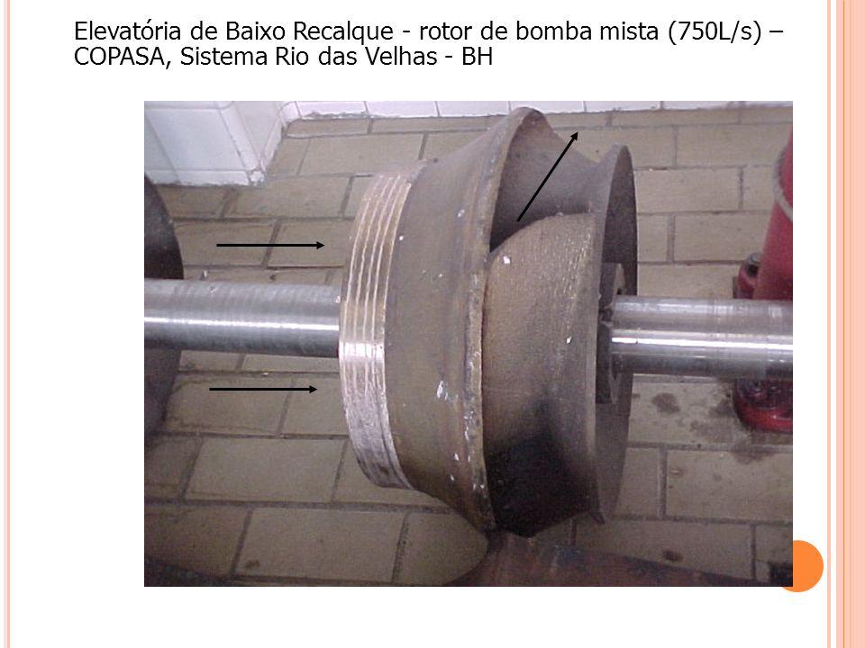 Elevatória de Baixo Recalque - rotor de bomba mista (750L/s) – COPASA, Sistema Rio das Velhas - BH