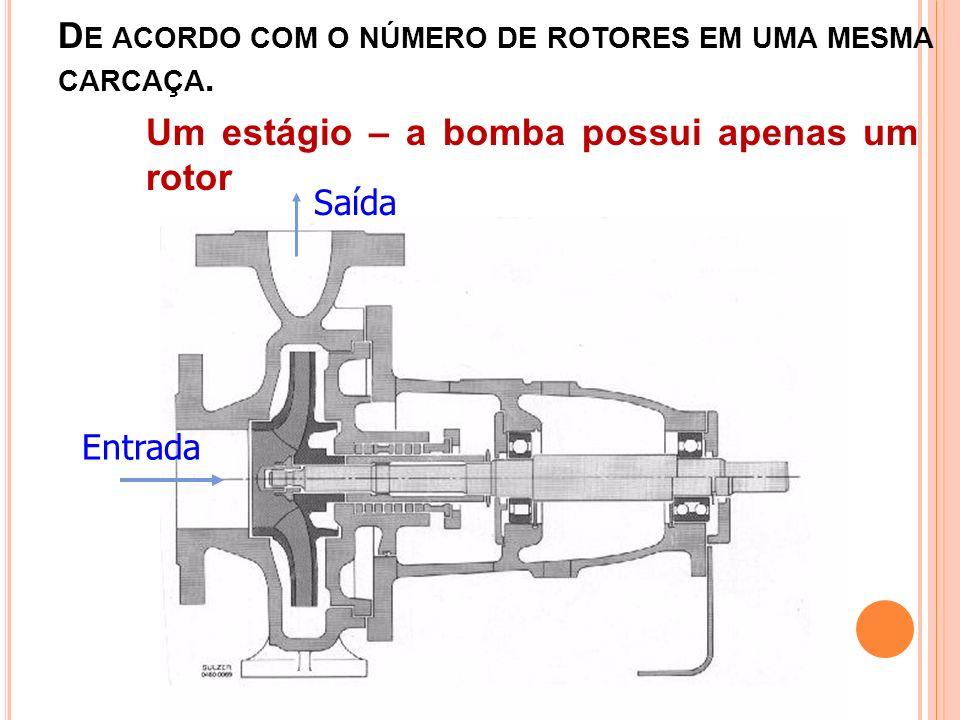 De acordo com o número de rotores em uma mesma carcaça.