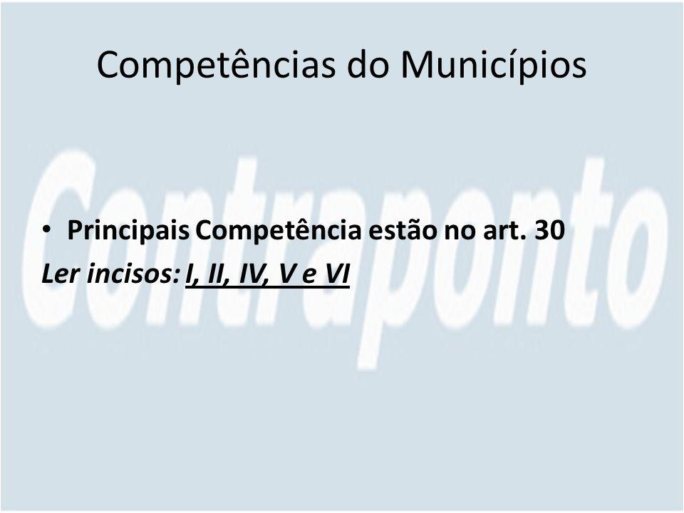 Competências do Municípios