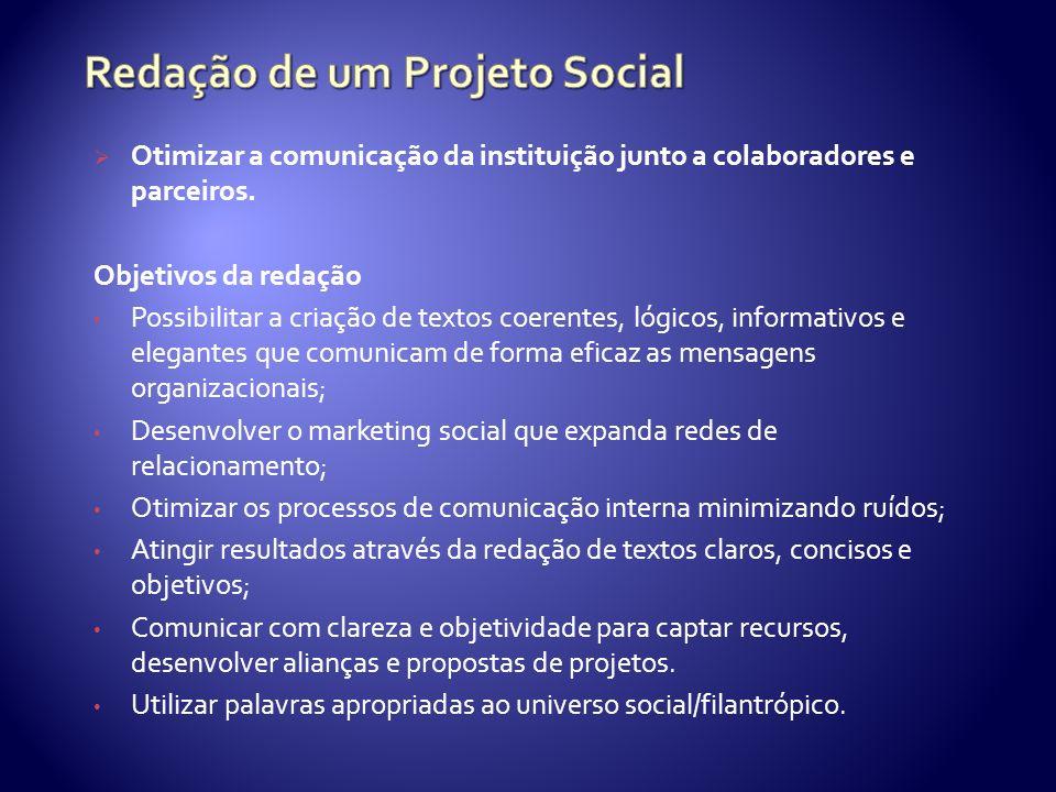 Redação de um Projeto Social