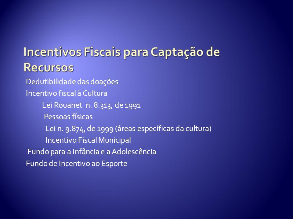 Incentivos Fiscais para Captação de Recursos