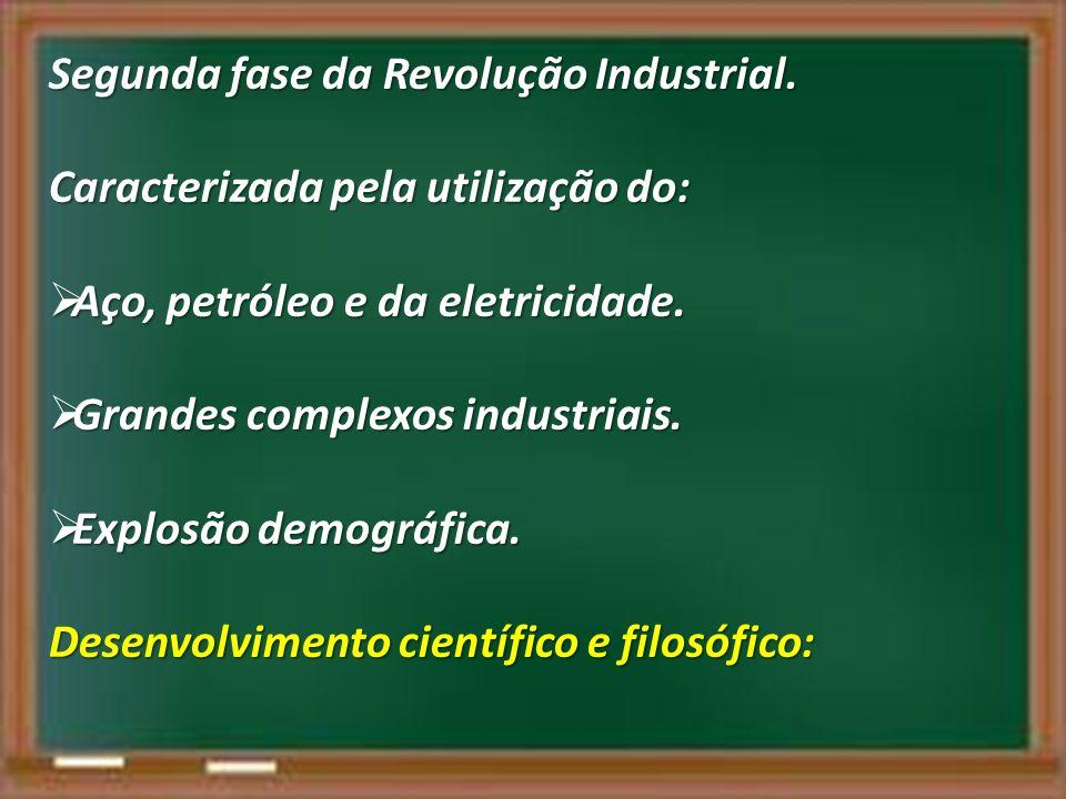Segunda fase da Revolução Industrial.