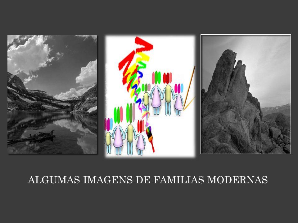 ALGUMAS IMAGENS DE FAMILIAS MODERNAS