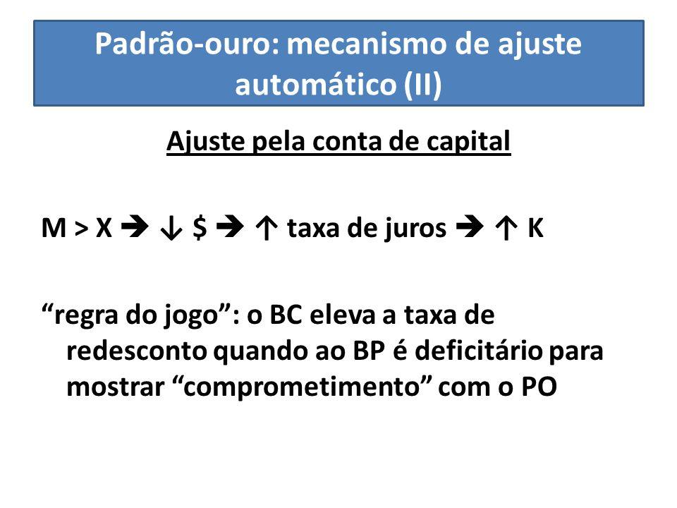 Padrão-ouro: mecanismo de ajuste automático (II)
