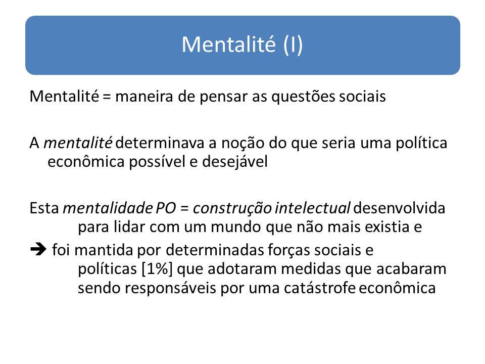 Mentalité (I)